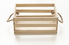 Wood box with rope handles Stock Photography