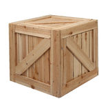 Wood box white background Royalty Free Stock Photo