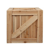 Wood box white background Royalty Free Stock Photos