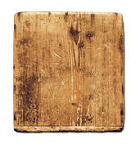 Wood bräde för gammal grunge som isoleras på vit royaltyfri bild
