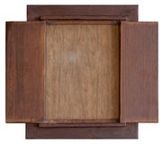 Wood bräde för tappning Arkivfoto