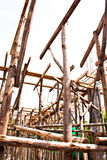 Wood bracing. Many wood bracing. It is used in construction Stock Images