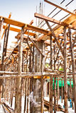 Wood bracing. Many wood bracing. It is used in construction Royalty Free Stock Photos