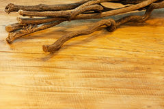 Wood and branch Royalty Free Stock Photo