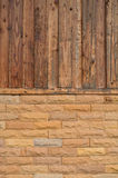 Wood and brick background Royalty Free Stock Photos
