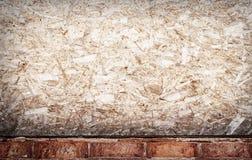 Wood and brick grunge wall Stock Image
