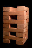 Wood brick tower Stock Images