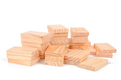 Wood bricks Stock Photos