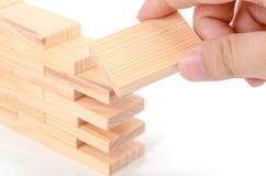 Wood bricks Stock Photography