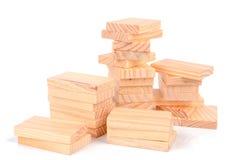 Wood bricks Royalty Free Stock Photography