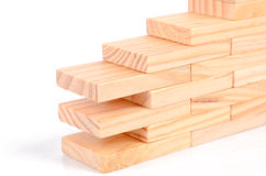 Wood bricks Stock Image