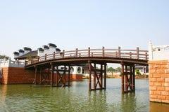 Wood Bridge Royalty Free Stock Image