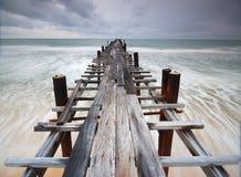 Wood bridge Royalty Free Stock Photography