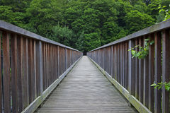 Wood bridge Stock Images