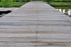 The wood bridge Royalty Free Stock Images