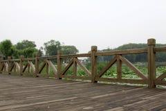 Wood bridge Stock Image