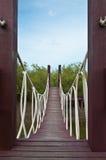 Wood bridge Royalty Free Stock Images
