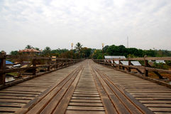 Wood bridge. In thailand beautiful royalty free stock photography