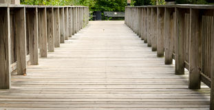 Wood Bridge Background Royalty Free Stock Photo