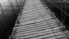 Wood bridge. Royalty Free Stock Image