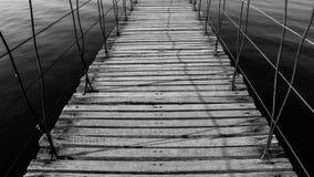 Wood bridge. Stock Photos