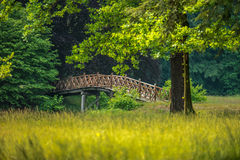 Wood bridge Royalty Free Stock Photos