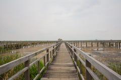 Wood Bridge Bua marsh Stock Image