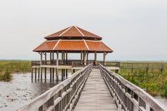 Wood Bridge Bua marsh Royalty Free Stock Photos