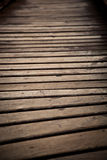 Wood bridge close up Royalty Free Stock Photos