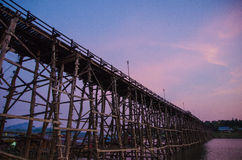 The wood bridge Stock Image