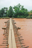 Wood bridge cross river Royalty Free Stock Photography