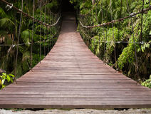 Wood bridge Stock Photography