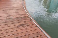Wood bridge in lake Royalty Free Stock Images