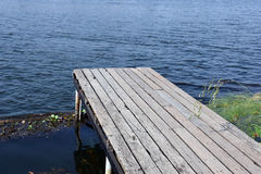 Wood bridge in the lake Royalty Free Stock Photography