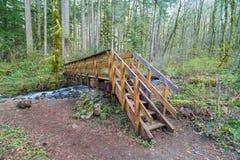 Wood Bridge over Dry Creek in Oregon Stock Photo