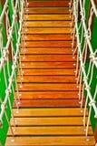 Wood bridge at playground Stock Photo