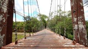 Wood Bridge sky background. stock video
