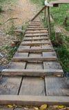 Wood bridge Stock Photo