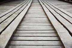 Wood bridge, Thailand Royalty Free Stock Image