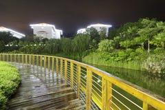 Wood bridge of tianzhu hotel Royalty Free Stock Photos