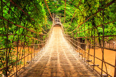 Wood bridge tunnel Royalty Free Stock Photography