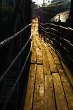 Wood bridge in Vang Vieng, Laos Royalty Free Stock Photos