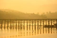 Wood bridge. Wooden bridge on the rural way of life Royalty Free Stock Image