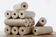 Wood briquette Royalty Free Stock Photo