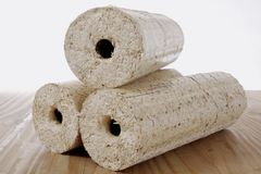 Wood briquette Royalty Free Stock Photos