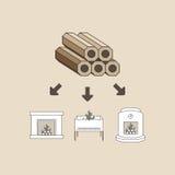Wood briquette Stock Images