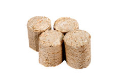 Wood briquettes Royalty Free Stock Image