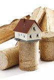 Wood briquettes Stock Photos
