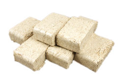 Wood briquettes isolated Stock Photography