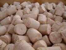 Wood briquettes Stock Image